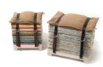 Decoração com Reciclagem bancos jornais revistas
