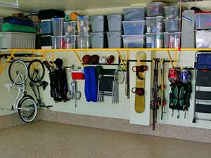 Garagem organizada - caixas